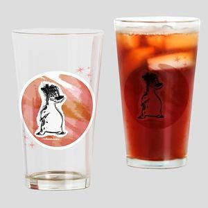 Spotty Scotty Bear [white] Drinking Glass
